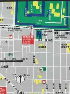 二条城公衆トイレ地図